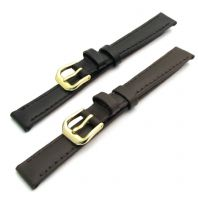CONDOR Padded Leather Watch Strap Ladies Size 12mm 14mm Black or Brown 306R